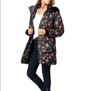 NWT Juicy Couture Puffer floral Coat